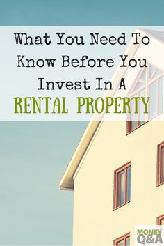 Invest in Real Estate - What to Know Before Investing in Rental Property - Finance tips, saving money, budgeting planner Investment Tips, Investment Companies, Investment Property, Investing Money, Real Estate Investing, Money Tips, Money Saving Tips, Buying A Rental Property, Setting Up A Budget