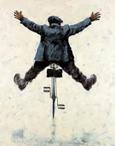 Wey Hey by Alexander Millar, Came soooo close to buying this today but had to exercise real restraint! Painting People, Figure Painting, Pen And Watercolor, Watercolor Paintings, Rock Painting Ideas Easy, Art Addiction, Bicycle Art, Human Art, Cycling Art