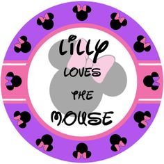 PLATE Minnie The Mouse inspired Childrens by LimeNCoconutDesigns, $22.00  This design is also available with Mickey rather than Minnie, and you can also get a matching melamine bowl.