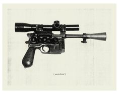 star wars blaster gun print