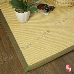 Sisal linho tapete casa tapete tapetes de mesa de café tapete alishoppbrasil