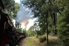 L1M1AP3 - Rule of Thirds: Puffing Billy, Menzies Creek, Melbourne. Shot hanging out of the rear carriage, F/5.6, Exp1/100, ISO 100(Auto), Focal Length 23mm, Handheld.