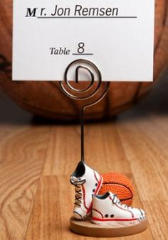 Basketball Themed Place Card Holder Party Favors