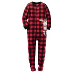 Boys Carter's Moose Fleece Footed Pajamas