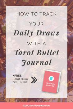 How to Track Your Daily Draws with a Tarot Bullet Journal | Tarot Journal Ideas | Tarot Journaling | Tarot Journal Template | Tarot Symbols | Daily Tarot Journal #tarot #soultruthgateway