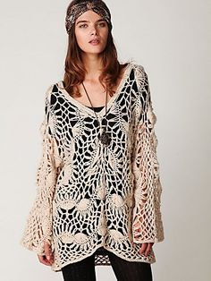 Free People...crochet sweater.  Must have.