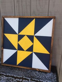 "25 1/4 "" x 25 1/4 "" Barn Quilt Block - West Virginia Star - Wood Painted Sign- CUSTOM COLORS AVAILABLE"