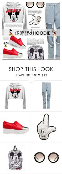 """""""Cropped Hoodie!"""" by ladybug-100 ❤ liked on Polyvore featuring WearAll, Anya Hindmarch, Garance Doré, Miu Miu, Disney, Spring, mickey, polyvorecontest and CroppedHoodie"""