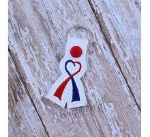 Awareness Ribbon Snap Tab Design