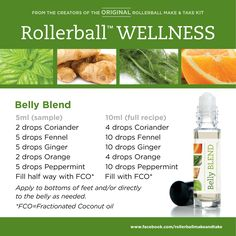 Belly Blend :: Rollerball WELLNESS Make & Take Workshop Kit #essentialoils…