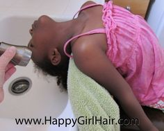 4 Tips for Sink Washing Natural Hair