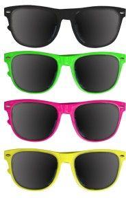 Private Island Party  - DOZEN Wayfarer 80's Style Sunglasses Mixed Colors 1050, $20.40 (http://privateislandparty.com/products/dozen-wayfarer-80s-style-sunglasses-mixed-colors-1050/)
