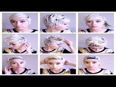 Seven No Heat Pixie Hairstyles  | Hair Tutorial Pt. 3 - YouTube