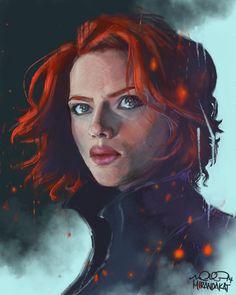 Black Widow || Natasha Romanoff || by MirandaKat || 736px × 920px || #fanart