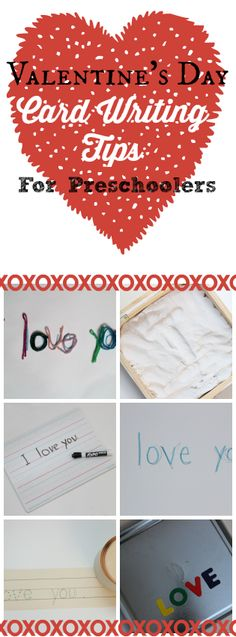 Write Valentines with your preschoolers