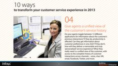 Give agents a unified view of the customer's service history Customer Service Experience, History, Historia