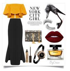 """Untitled #785"" by crisa-gloria-eduardo ❤ liked on Polyvore featuring Yves Saint Laurent, Maticevski, Christian Louboutin, Bulgari, Dolce&Gabbana, Lime Crime, Trish McEvoy and NYX"