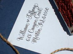 Custom Calligraphy Address Stamp  All handwritten  por AngeliqueInk