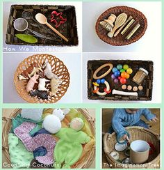 Themed Treasure Baskets for Babies http://livingmontessorinow.com/2013/07/08/montessori-monday-themed-treasure-baskets-for-babies/