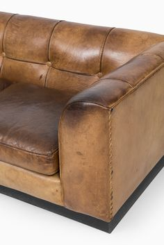 Arne Norell Cognac Brown Buffalo Leather Sofa At Studio Schalling | Leather  | Pinterest | Studios, Brown And Leather Sofas