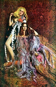 """""""Scanned from Zandra Rhodes: Textile Revolution: Medals, Wiggles and Pop 1961-1971  Photo by Bill Cunningham."""" This is crazy and fun. Torn up dresses, tassels, mixtures of variety of colors and textile and so on. Everything is both messy and in order!"""