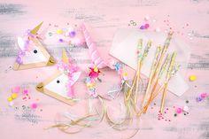 Einhorn-Party, Einladung Einhorn-Geburtstag, Einhorn Kuchen, Kindergeburtstag, Einhorn-Haarreif