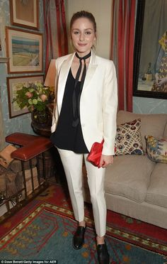 Olivia Palermo at dinner party in London, England.