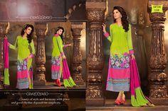 Latest Parrot Long Designer Salwar Kameez @ 20% Discount  #salwarkameez #designersalwarkameez #partywearsalwarkameez