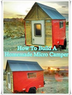 """How To Build A Homemade Micro Camper Homesteading - The Homestead Survival .Com """"Please Share This Pin"""" Diy Camper Trailer, Build A Camper, Truck Camper, Food Trailer, Truck Bed, Mini Camper, Popup Camper, Camper Van, Homestead Survival"""