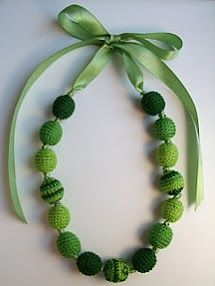 Crocheted bead necklace.
