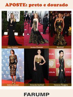 Faça como as celebridades e aposte no clássico black & gold!