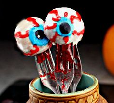 'Bloody' Jelly Donut Hole Eyeballs