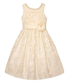 Love this Candleight Floral Appliqué A-Line Dress - Toddler & Girls by Couture Princess on #zulily! #zulilyfinds