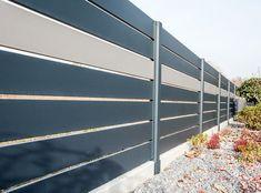 Przęsło Gate Designs Modern, Modern Fence Design, House Gate Design, Boundary Walls, Sliding Gate, Metal Screen, Backyard, Patio, Entrance Gates