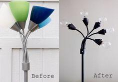 Industrial lamp DIY, by Solanah of Vixen Vintage.