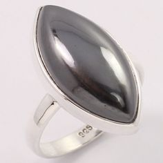 925 Sterling Silver Ring Size US 7.75 Genuine HEMATITE Gemstone Wholesale Offer #SunriseJewellers #Fashion