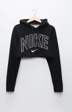 Retro Gold Nike Black Pullover Hoodie - Womens Hoodie - Black - One $39.95