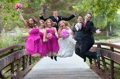 Great Jump!  Ronn + Shannon // Christ Community Church Wedding » Wheeland Photography
