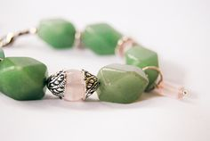 Handmade bracelet with quartz, jade and tibetan silver  #bracelet #handmade #gemstone #jewels #diy #gioielì #fashion