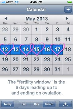 When are you most fertile? Know your fertility calendar.