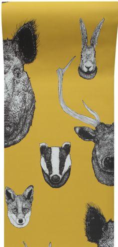 Vestige Mustard wallpaper by Graduate Collection