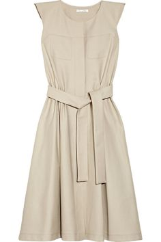 Oscar de la Renta for THE OUTNET Stretch-cotton canvas dress