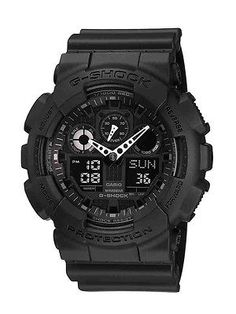 Other Wholesale Wristwatches 40133: Casio Tactical G Shock Military Black Watch, Black, Small Ga100-1A1 BUY IT NOW ONLY: $99.0