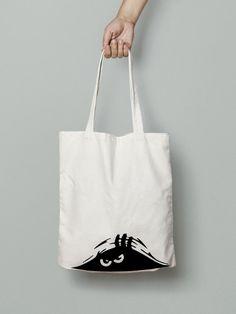 4692728c93 Cranky Monster Tote Bag - Halloween Bag - Cranky Person - Farmer Market Tote  - Canvas Bag - Cotton Tote Bag - Large Canvas Tote