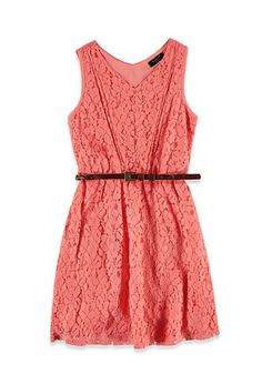 Lace Fit & Flare Dress (Kids) | Forever 21 girls - 2000130847