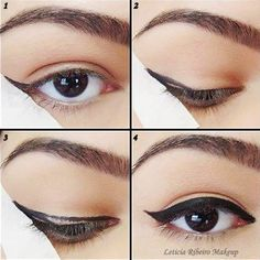 Cool Makeup trick.i want to try my eyeliner like this!