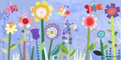 whimsical garden collage