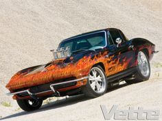 YEP...LOVE THE CAR AND PAINT JOB...SENDS IT OVER THE TOP...hot rod corvette
