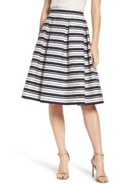 Free shipping and returns on Eliza J Stripe Jacquard Midi Skirt at  Nordstrom.com. 0e5d97bfe