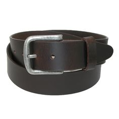 A supple leather bridle belt is 1.5 inches wide and made out of one piece of leather. The antiqued harness buckle is removable so that you can replace it with your favorite buckle.